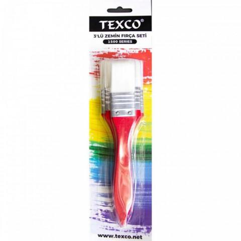 Texco 3'lü Zemin Set Fırça Kırmızı 1500 Seri