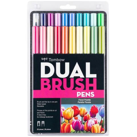 Tombow ABT Dual Brush Pen Grafik Kalemi 20'li Set - Floral