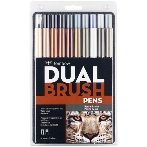 Tombow ABT Dual Brush Pen Grafik Kalemi 20'li Set - Neutral