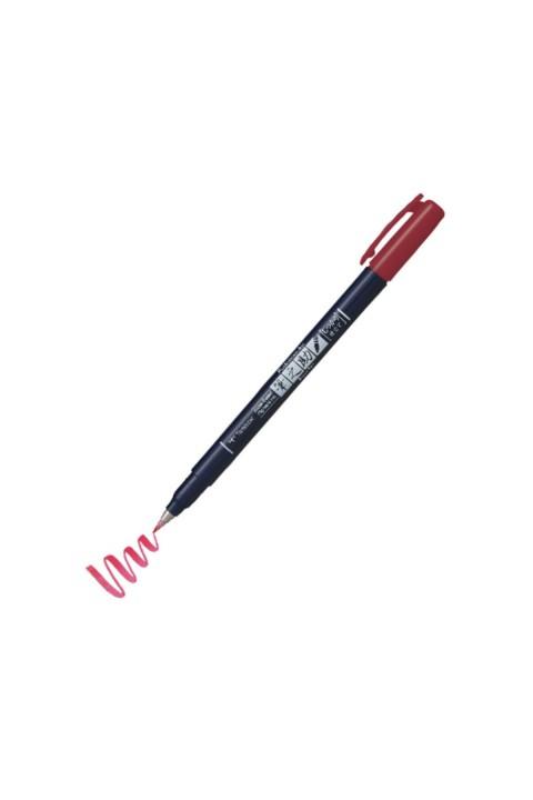 Tombow Fudenosuke Brush Pen Fırça Uçlu Kalem Sert Uç - Kırmızı