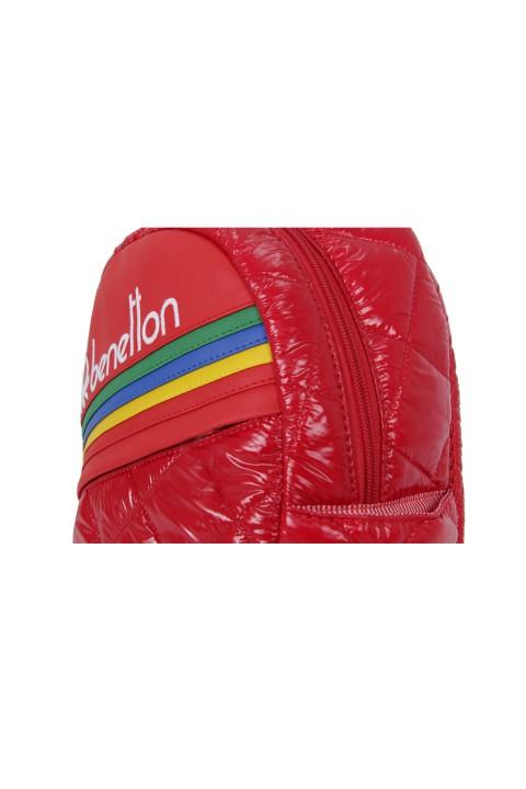 United Colors of Benetton 2021 Yeni Sezon Anaokulu Çantası Kapitone Kırmızı 70241