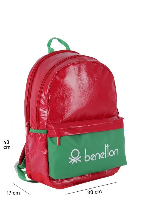United Colors of Benetton 2021 Yeni Sezon Okul Çantası Kırmızı 70740
