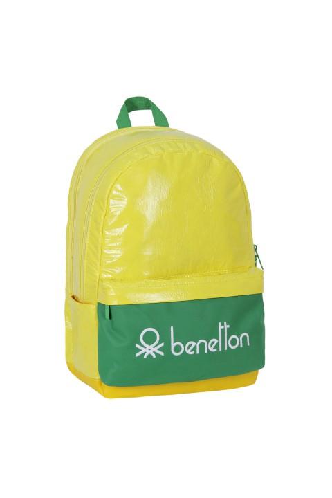 United Colors of Benetton 2021 Yeni Sezon Okul Çantası Sarı 70741