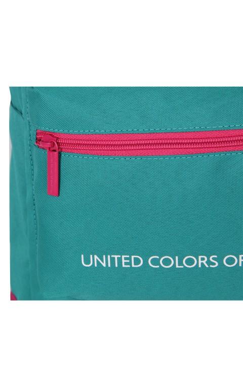 United Colors of Benetton 2021 Yeni Sezon Casual Sırt Çantası Turkuaz 70409