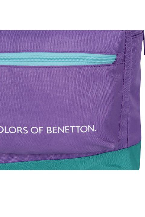 United Colors of Benetton 2021 Yeni Sezon Casual Sırt Çantası Lila 70411