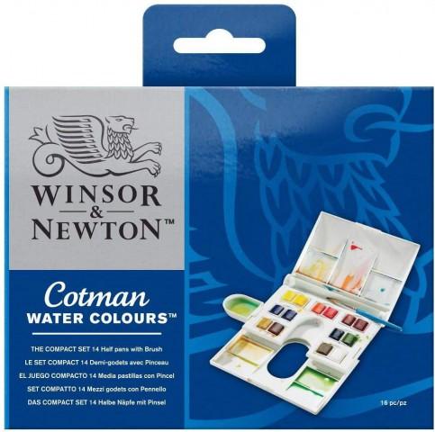 Winsor Newton Cotman Kompakt 14 Renk Tablet Suluboya Set