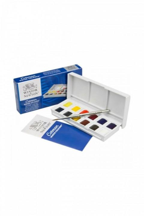 Winsor & Newton Cotman Sketchers` Pocket Box 1/2 Tablet Sulu Boya 12 Renk