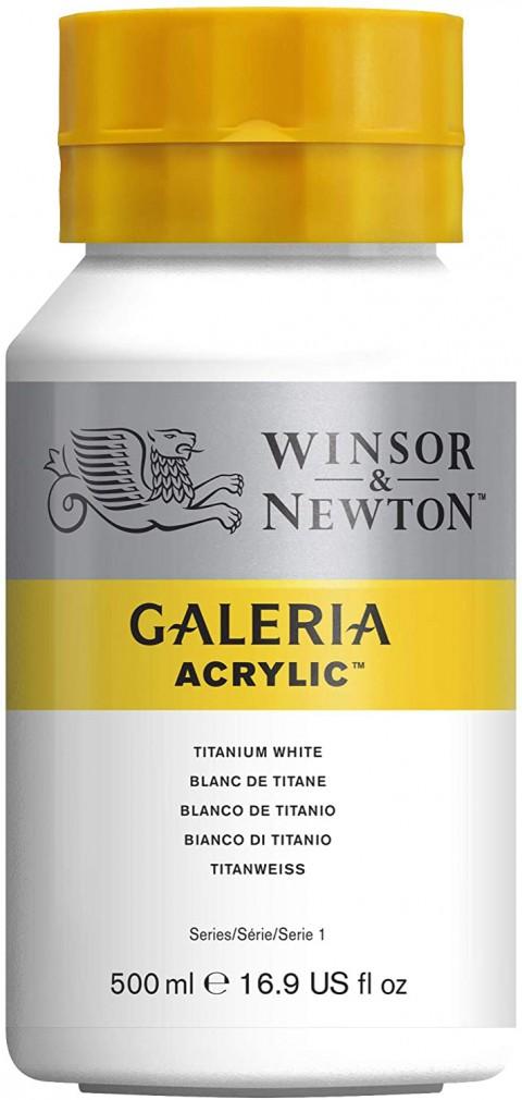 Winsor Newton Galeria Akrilik Boya 500ml - Titanium White 644