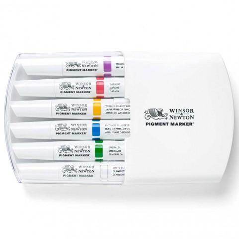 Winsor & Newton Pigment Marker 6'lı Zengin Tonlar Set