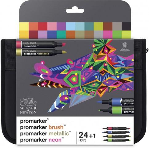 Winsor Newton Promarker 24'lü Set - Mixed