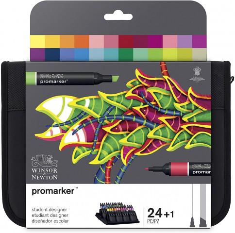 Winsor Newton Promarker 24'lü Wallet Set - Student Designer