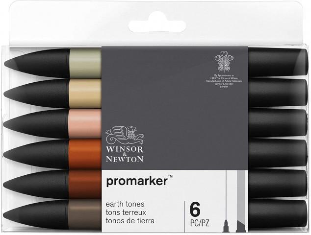 Winsor Newton Promarker 6'lı Earth Tones