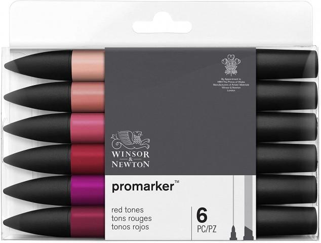 Winsor Newton Promarker 6'lı Red Tones