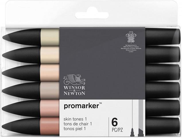Winsor Newton Promarker 6'lı Skin Tones 1
