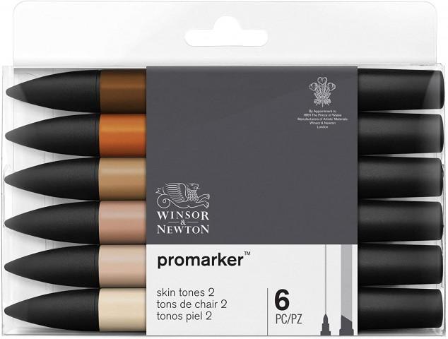 Winsor Newton Promarker 6'lı Skin Tones 2