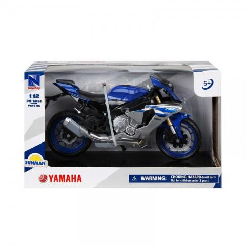 YAMAHA YZF-1 R1 Motorsiklet 1/12 Ölçek- Mavi