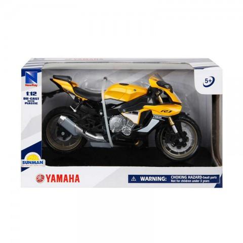 YAMAHA YZF-1 R1 Motorsiklet 1/12 Ölçek - Sarı