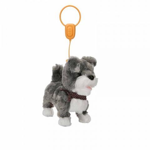 Yürüyen - Sesli Oyuncak Sevimli Peluş Köpek - Mocha