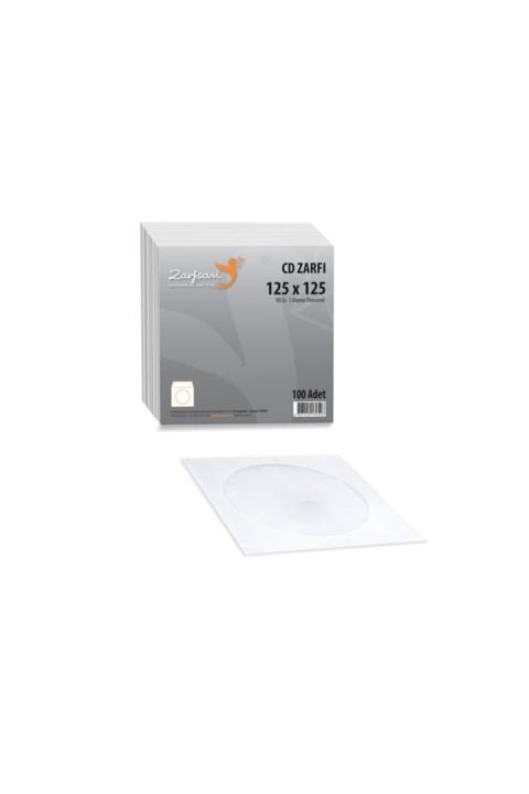 Zarfsan CD Zarfı 12,5x12,5 cm 90gr Pencereli 100 Adet